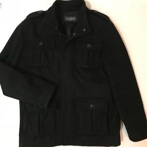 Other - Men's Black Wool Pea Coat - Large